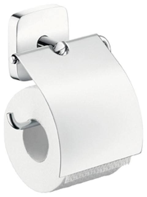 Hansgrohe puravida toilet roll holder chrome 41508000 for Chrome toilet accessories