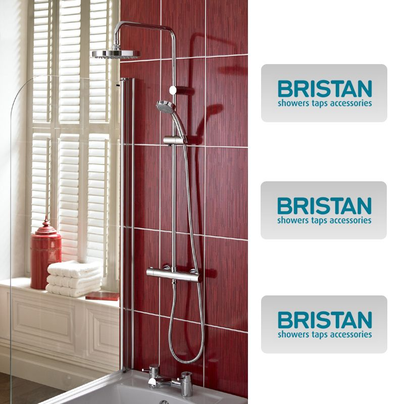 Bristan Carre Exposed Fixed Head Bar Shower With Diverter