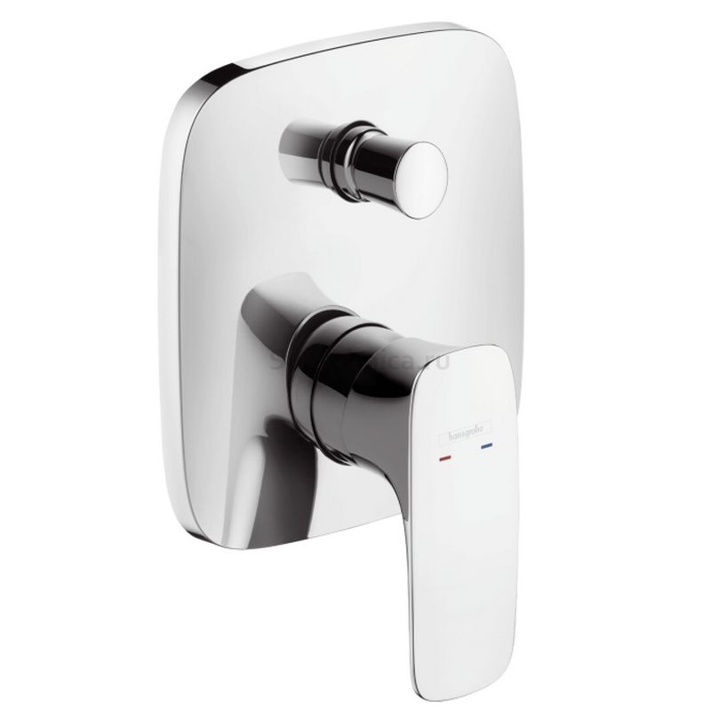 Hangrohe PuraVida Single lever bath mixer concealed white