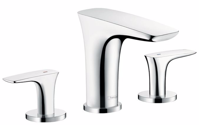Hansgrohe Puravida 3 Hole Basin Mixer 100 With Push Open