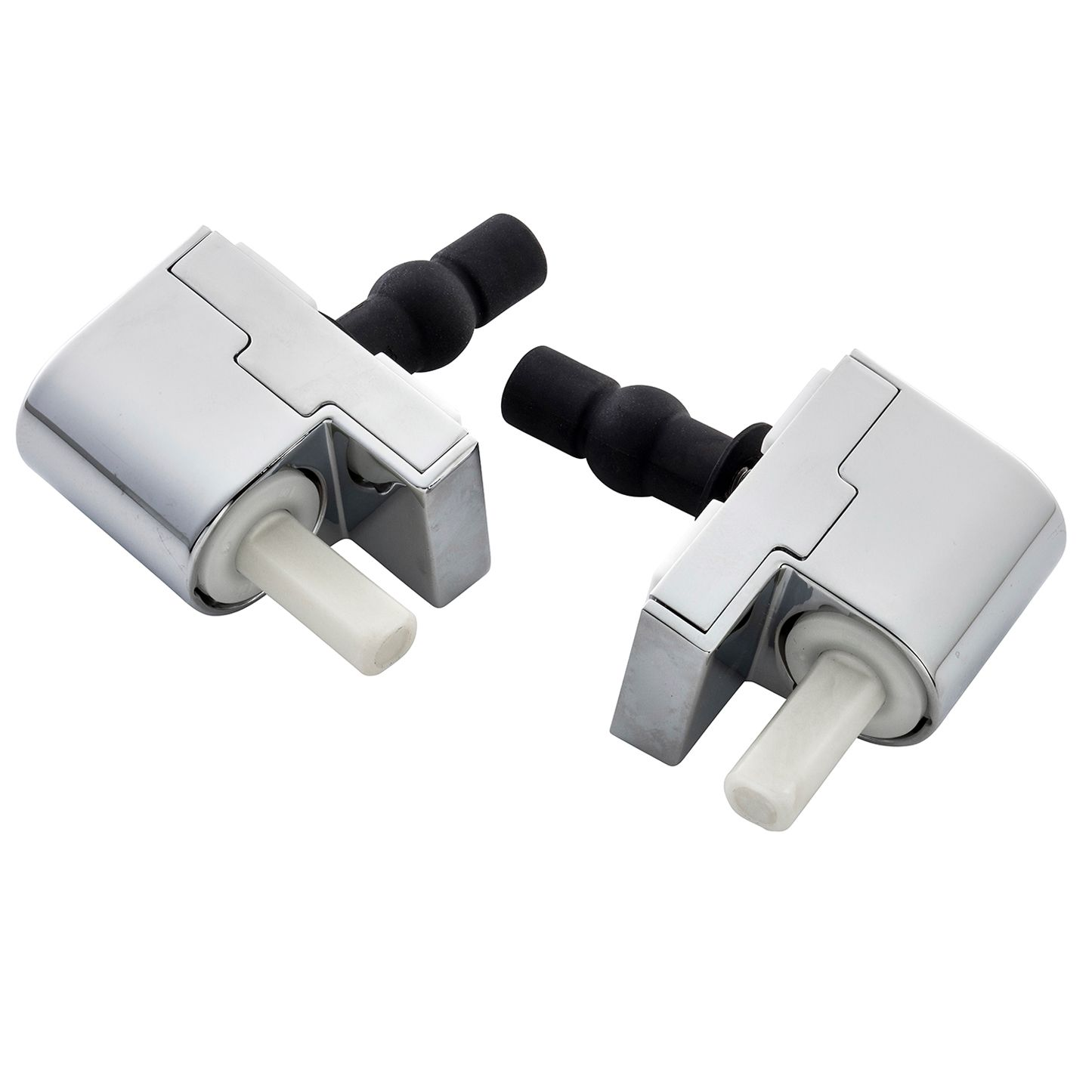 Ideal standard soft close della toilet seat hinges chrome for B q bathroom accessories