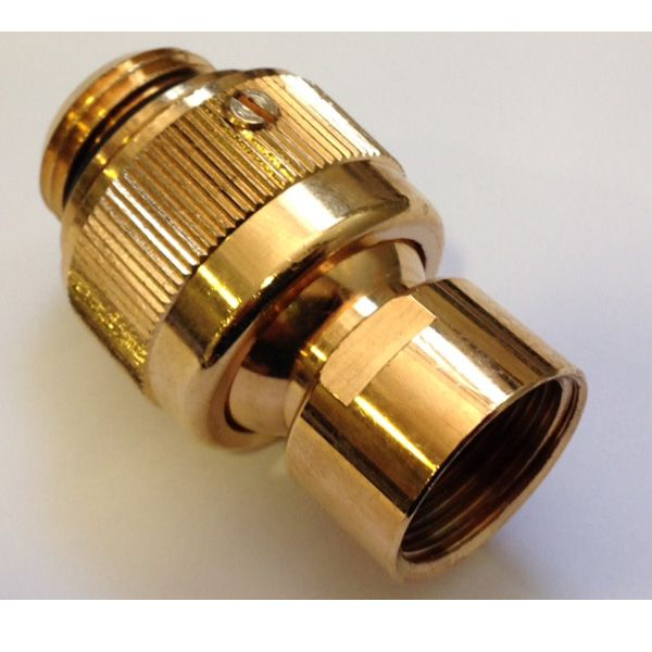 Swivel Ball Joint Shower Connector 50mm Gold 805049gld